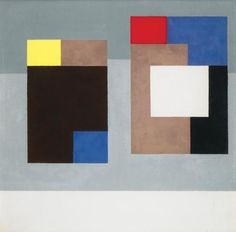 Version4, gouache, 1940-42. Ben Nicholson (1894-1992) was an influential British painter & sculptor. He painted some of the best known abstract paintings in 20th C British art, & was one of the 1st painters in the community of artists known as the St Ives School.  On visits to Paris he met Mondrian, whose work influences him in an abstract direction,  His gift, however, was the ability to incorporate these European trends into a new style that was recognizably his own.