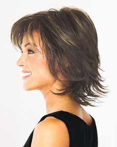 The Revlon Wig Collection has superior air circulation provided by their wig construction and was created for women who desire the most natural-looking Revlon wigs available today. FEATURES: 4 adjustable velcro tabs extend from the crown to the nape of th Short Hair With Layers, Short Hair Cuts For Women, Short Hairstyles For Women, Teenage Hairstyles, Medium Hair Styles, Natural Hair Styles, Short Hair Styles, Latest Short Haircuts, Sassy Haircuts