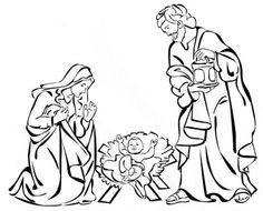 nativity drawings - Google Search