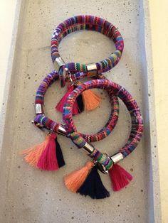 Armband Azteken design Quasten von moanda auf DaWanda.com