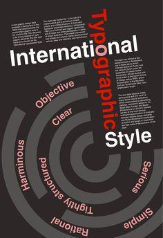 International Typographic Style on Behance