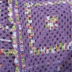 Granny square afghan by Norma cardona