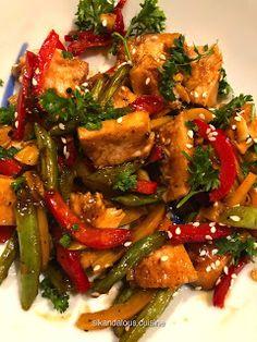 Sikandalous Cuisine: Chicken & Bell Peppers in Teriyaki Sauce #sikandalouscuisine