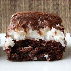 Mounds Brownies - go to hell, bc only the devil would make something so painfully tempting