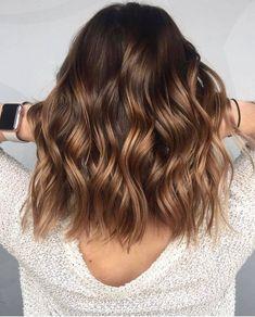 Brown Hair With Caramel Highlights, Hair Color Caramel, Brown Hair Balayage, Ash Blonde Hair, Brunette Hair, Hair Highlights, Purple Highlights, Thick Highlights, Peekaboo Highlights