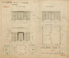 jean prouve maisons coques 1950 1952 during the assembly work for the mame printing works. Black Bedroom Furniture Sets. Home Design Ideas