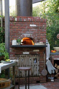 centerpiece of outdoor kitchen