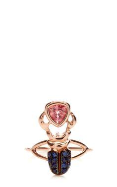 Kephris Salmon Sapphire Ring by Daniela Villegas for Preorder on Moda Operandi