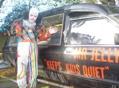 Mr. Jelly in front of his van.