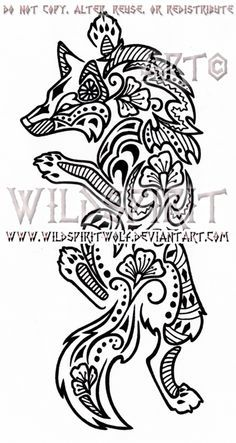 Climbing Henna Wolf Design by WildSpiritWolf.deviantart.com on @deviantART
