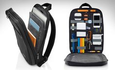Cocoon slim backpack. Great for organizing electronics and other small items while on the road. Holds notebooks and laptops up to 15 in.