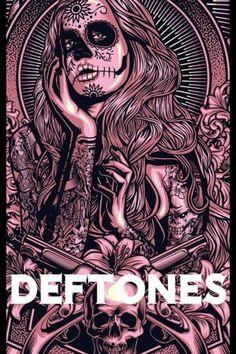 Deftones concert poster