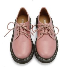 Retro Lace Up Flat Shoes in Pink and other apparel, accessories and trends. Browse and shop 9 related looks.