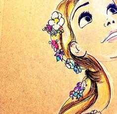 Tangled Rapunzel art