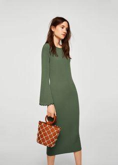 0f36d0f47d Fitted textured dress - Women. Love ListFabricDressesMangoTejidosMidi ...