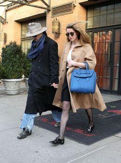 Amber Heard street style look                                                                                                                                                                                 More