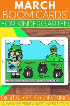 Help your students practice a variety of Kindergarten skills while having fun! This March Boom Cards bundle includes 8 FULL St. Patrick's Day themed decks for students to practice blends, digraphs, CVC, addition, subtraction, teen numbers and more!