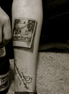 Polaroid Tattoo. Cool. As. Shit. Love how raw & simple it is.