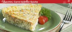 Tupperware | Weekday Supper - Zucchini, Carrot and Onion Quiche