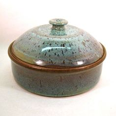 Stoneware Pottery Casserole with Lid by CrookedCreekStudio1 on Etsy