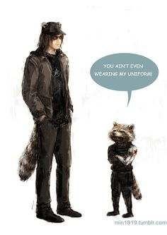 """Raccoon buddies. HAPPY HALLOWEEN!!!"" Posted on tumblr.com by min1919."