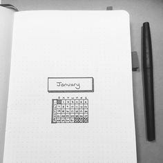 Bullet journal monthly cover page. | @fischrjournals
