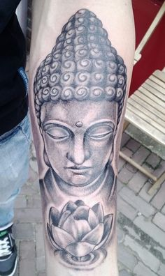 Beautiful buddha tattoo. Made by Sean Welsh!