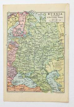Vintage world map poster very large map of the world vintage map small russia map 1930s map of russia by peonyandthistlepaper gumiabroncs Image collections