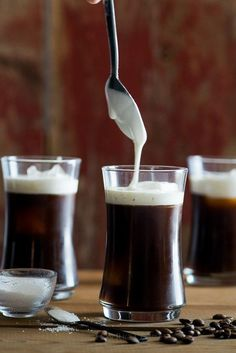 Sea Salt Cream Iced Coffee: espresso, cream and sea salt make it tasty!