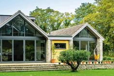 A bungalow is transformed thanks to a clever scheme of small extensions, external makeover and internal remodel Bungalow Extensions, House Extensions, Bungalow Extension Before And After, Bungalow Conversion Before And After, Dormer Bungalow, Roof Extension, Extension Google, Extension Ideas, 1970s House