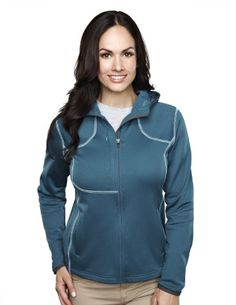 Tri-mountain Womens 100%Poly Micro Fleece long sleeve ULTRA COOL jacket with hood. 7382 - PEACOCK BLUE_4XL Shell:100%Poly Micro Fleece fabric weight 165 gsm Binding: 7350s charcoal for all colorways.  #Tri-Mountain #Apparel