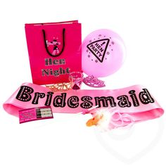 Bridesmaid Goody Bag 8-Piece Set by Hen Night HQ - Gift Accessories for the best hen parties