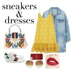 """""""sneakers&dresses"""" by lov3story on Polyvore featuring Mode, LE3NO, Alexis, Gucci, Chloé, Jouer, contest, contestentry und SNEAKERSANDDRESSES"""