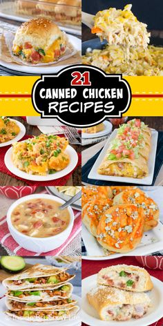 Save time and money by making these easy Canned Chicken Recipes for dinner. Canned chicken is a great way to add protein to a meal in minutes. Chicken Ravioli, Cheesy Chicken Pasta, Chicken Blt, Chicken And Chips, Buffalo Chicken Pizza, Chicken And Biscuits, Canned Chicken, Rotisserie Chicken, Chicken Recipes