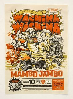 MIK BARO blog: WÁCHINA WÁCHINA Festival Vol.4 - 2015 _ cartel, flyer, tickets, pulsera, chapas…