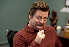 Nick Offerman ( Flynn Flynn Rolling Stone's 50 Funniest People Now) Ron Swanson, Leslie And Ben, Parks And Recs, Nick Offerman, Comedy Festival, Tv Guide, Better Half, Parks And Recreation, Funny People