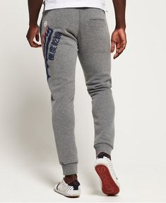 Shop Superdry Mens Vintage Logo Tri Colour Joggers in Dark Trophy Grey Marl. Buy now with free delivery from the Official Superdry Store. Vintage Logo, Vintage Men, Superdry Mens, Clothing Photography, Grey Joggers, Jogger Pants, Logos, Jeans, Casual