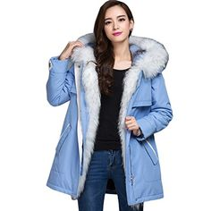 Saprex Nigeria Overcome Women Nick Garment Jacket Winter Fur Coat SkyBlue Size XXL >>> Details can be found by clicking on the image.