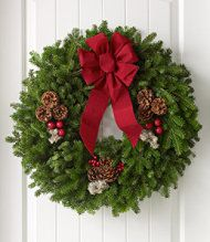 Traditional Balsam Wreaths #holiday must have here in #maine