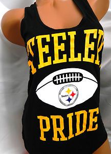 ... -Victoria-Secret-PINK-Pittsburgh-Steelers-Racerback-Tank-Top-Shirt-M