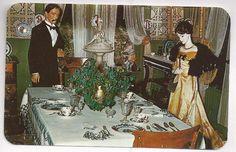 Postcard Dining Room Cripple Creek District Museum in Colorado CO
