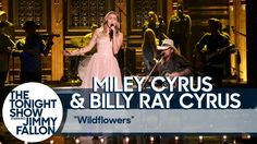"Miley Cyrus and Billy Ray Cyrus Pay Tribute to Tom Petty with ""Wildflowers"" Cover - YouTube"