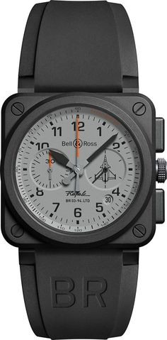 Bell & Ross Watch BR 03 94 Rafale Limited Edition Watch available to buy online from with free UK delivery. Dream Watches, Sport Watches, Luxury Watches, Rolex Watches, Wrist Watches, Bell Ross, Best Watches For Men, Cool Watches, Casio Protrek