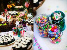Candy bar at the wedding - yum!