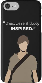 Great, we're all bloody inspired. Newt - The Maze Runner iPhone 7 Cases