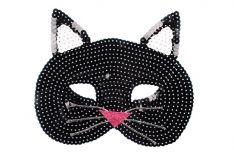 Maske Pailletten Katze