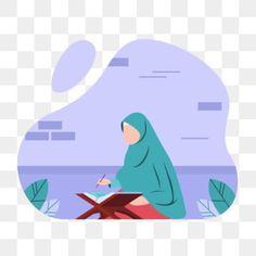 Flat Design Illustration, Cute Illustration, Cartoon Design, Cartoon Styles, Symbols Of Islam, Charity Poster, Reading Cartoon, Islamic Cartoon, Kids Library