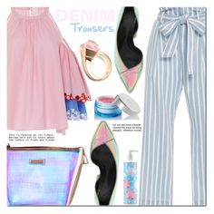 """Frame Denim Trousers"" by barbarela11 ❤ liked on Polyvore featuring Frame Denim, Peter Pilotto, Sephora Collection, McQ by Alexander McQueen, Gucci and Givenchy"