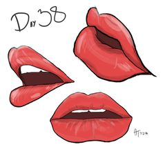 Daily Doodle #38 - Some lips! Never been good at these so I might do a couple more sets. #Lips