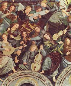 The Concert of Angels 1534 36 Painting by Gaudenzio Ferrari, Santa Maria dei Miracoli, Saronno